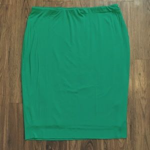 Vince Camuto Green Pencil Skirt Size 1X